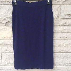 Apt 9 Royal & Black elastic waist skirt Sz small